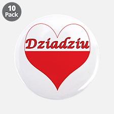 "Dziadziu Polish Heart 3.5"" Button (10 pack)"