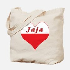 Jaja Polish Heart Tote Bag