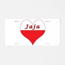 Jaja Polish Heart Aluminum License Plate