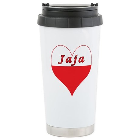 Jaja Polish Heart Stainless Steel Travel Mug