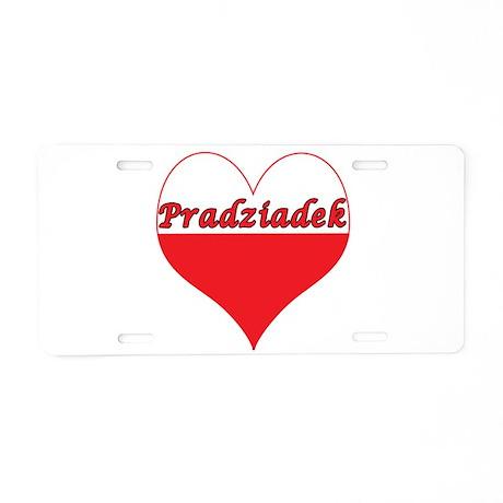 Pradziadek Polish Heart Aluminum License Plate