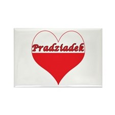 Pradziadek Polish Heart Rectangle Magnet