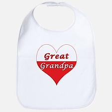 Great Grandpa Polish Heart Bib