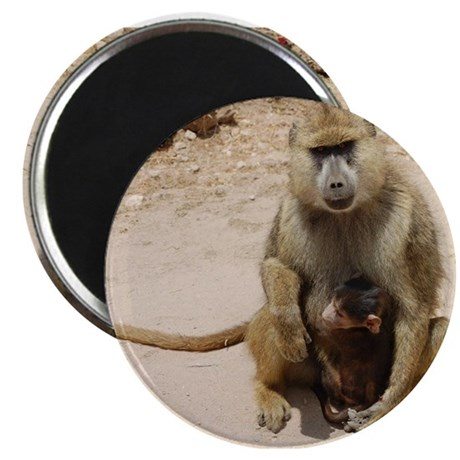 Baboon with Baby Magnet