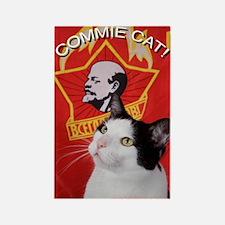 Commie Cat! Rectangle Magnet