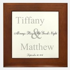Customizable Always kiss me goodnight Framed Tile
