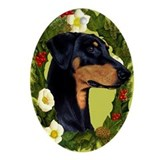 Doberman pinscher Oval Ornaments