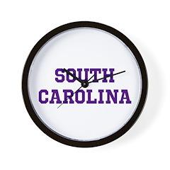Blue South Carolina Wall Clock