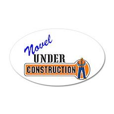 Novel Under Construction 22x14 Oval Wall Peel