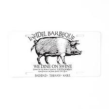 Infidel Barbeque Aluminum License Plate