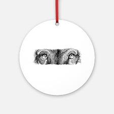 Wolf Eyes Ornament (Round)