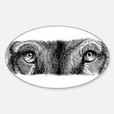 Wolf Eyes Oval Decal