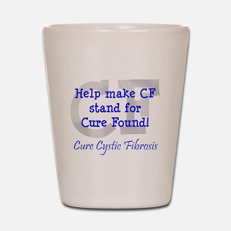 Blue CF Cure Found Shot Glass