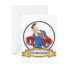 WORLDS GREATEST AUTO MECHANIC Greeting Card