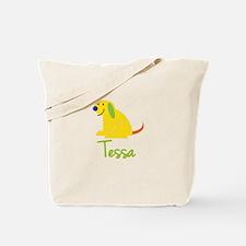 Tessa Loves Puppies Tote Bag