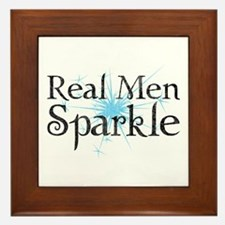 Real Men Sparkle 2 Framed Tile