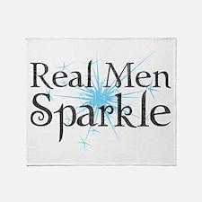 Real Men Sparkle 2 Throw Blanket