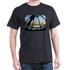Thru the Clockface Black T-Shirt