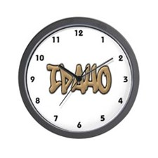Idaho Graffiti Wall Clock