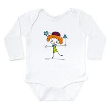 Cute Circus Clown Long Sleeve Infant Bodysuit