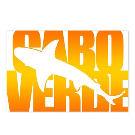 Cape Verde Tiger Shark Orange Postcards (Package o