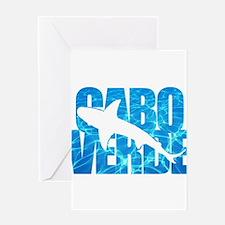 Cape Verde Tiger Shark Blue Water Greeting Card