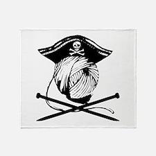 Yarrrrn Pirate! Throw Blanket