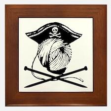 Yarrrrn Pirate! Framed Tile