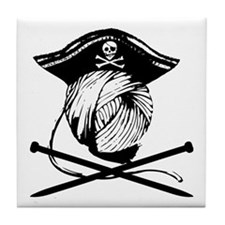 Yarrrrn Pirate! Tile Coaster