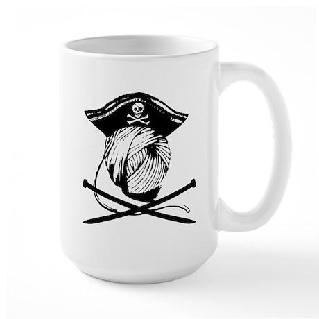 Yarrrrn Pirate! Large Mug