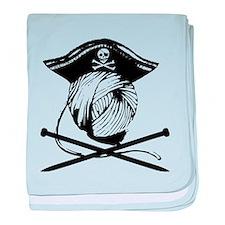 Yarrrrn Pirate! baby blanket
