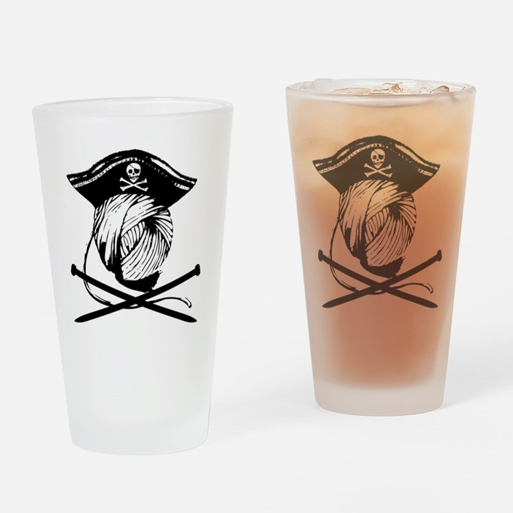 Yarrrrn Pirate! Drinking Glass