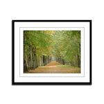 Tree Lane Framed Panel Print