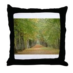 Tree Lane Throw Pillow