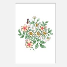 Apple Blossom and Daisy floral Postcards (Package