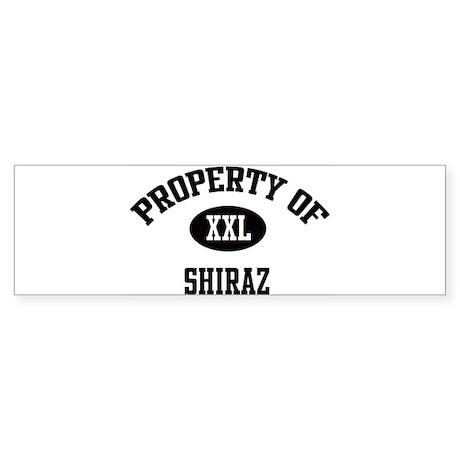 Property of Shiraz Bumper Sticker