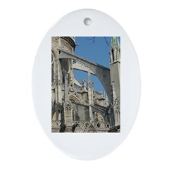 Notre Dame Buttress Oval Ornament