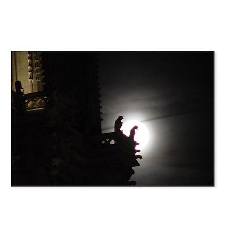 Full Moon Notre Dame Gargoyle Postcards (Package o