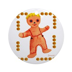 Ginger Bread Boy Ornament (Round)