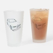 Funny Motorsports Drinking Glass