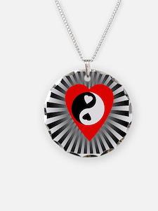 Yin Yang Heart Three Necklace