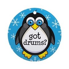 Drums Music Penguin Ornament (Round)