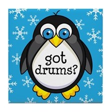 Drums Music Penguin Tile Coaster