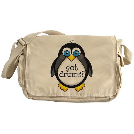Drums Music Penguin Messenger Bag