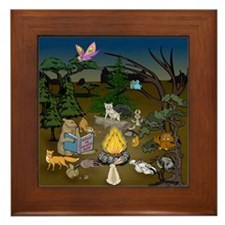 Critter's Campfire Conspiracy Framed Tile