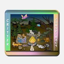 Critter's Campfire Conspiracy Mousepad