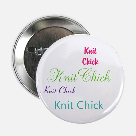 "Knit Chick 2.25"" Button"