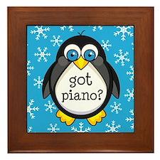 Piano Music Penguin Framed Tile