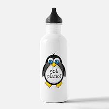 Piano Music Penguin Water Bottle