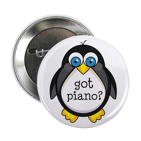 """Piano Music Penguin 2.25"""" Button"""